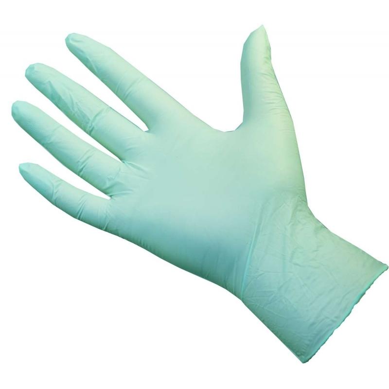 Small - Green Nitrile Powder Free Gloves Ultraflex (Case Of 1000)