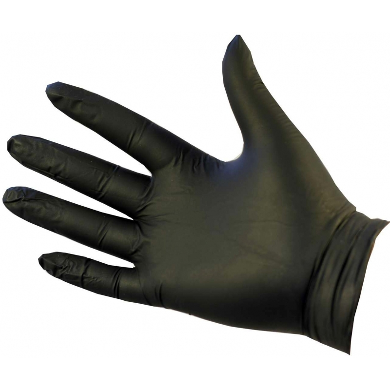 Large - Black Nitrile Powder Free Gloves Ultraflex (Case Of 1000)