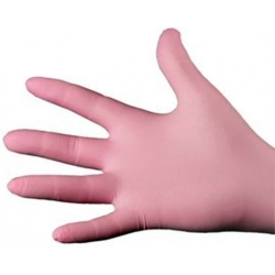 Large - Pink Nitrile Powder Free Gloves Ultraflex (Case Of 1000)