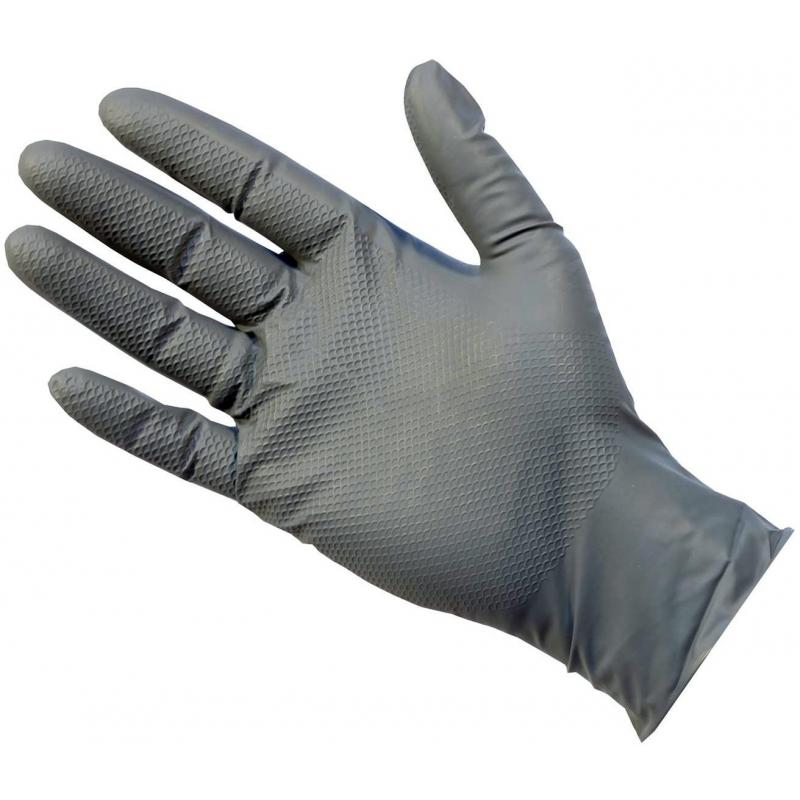 Large - Grey Nitrile Powder Free Gloves UltraGRIP Plus (Case Of 500)