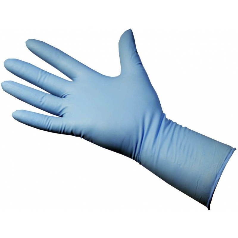 Small - Nitrile Powder Free Gloves Long Cuff Blue Ultrasafe Plus (Case Of 500)