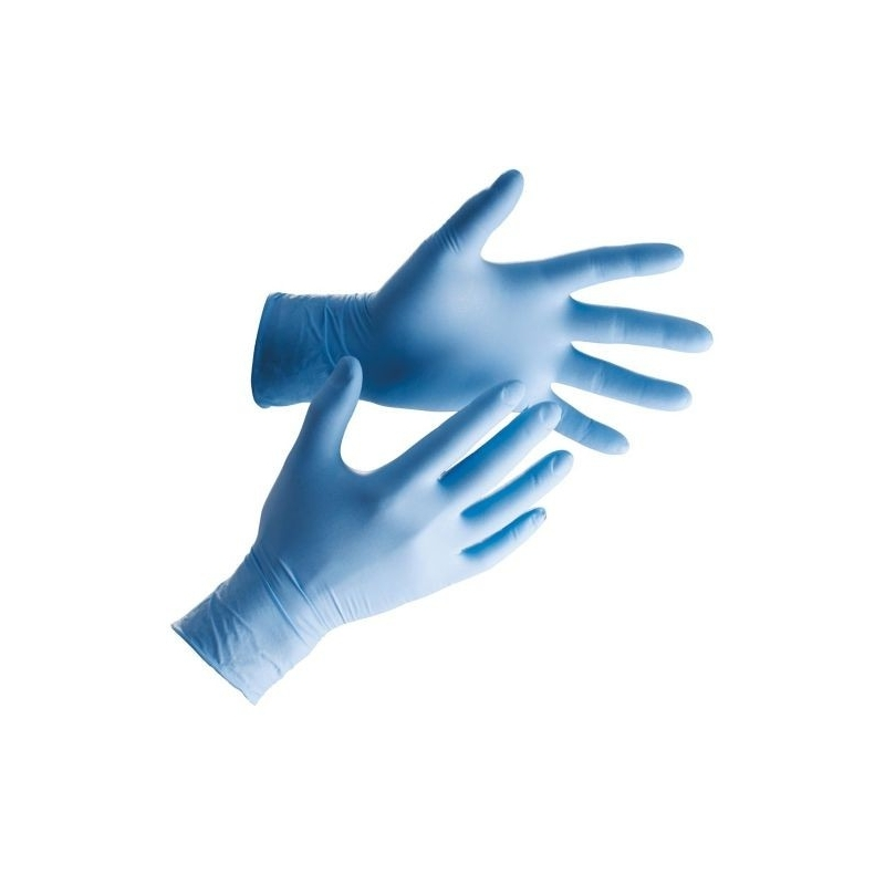 medium - Blue Nitrile Powder Free Gloves Ultraflex (Case Of 1000)