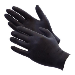 Black Nitrile Gloves Powder Free Ultragrip AQL 1.5 (Case of 1000) Medium