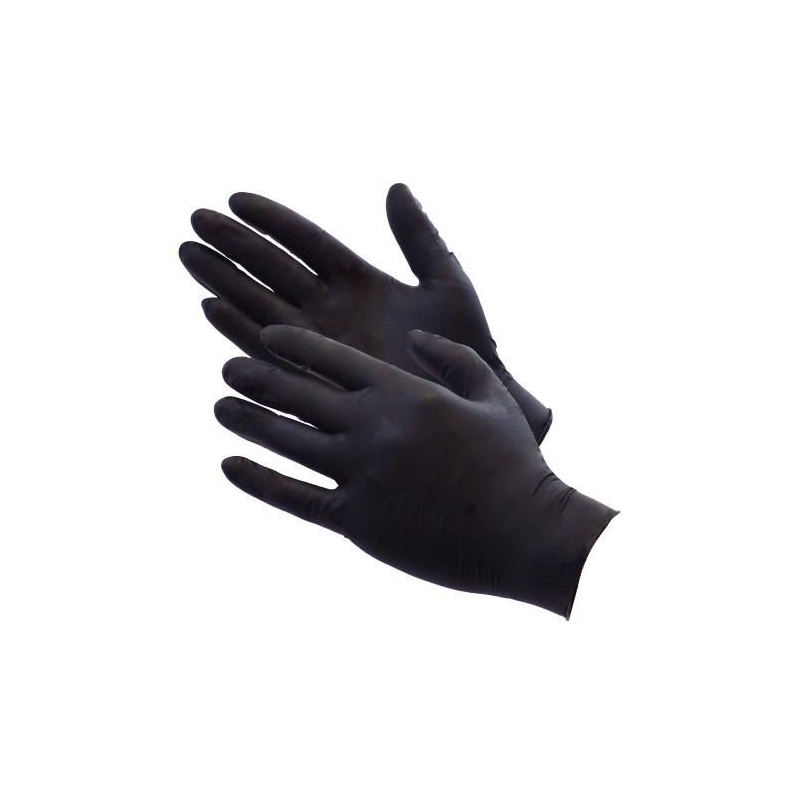 Medium - Black Nitrile Powder Free Gloves Ultragrip AQL 1.5 (Case of 1000)