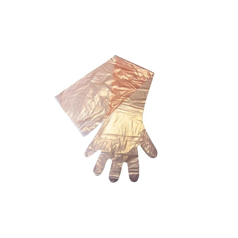 Copolymer Artificial Insemination Gloves Orange 30 Microns