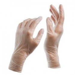 Large - Vinyl Powder Free Gloves Clear AQL 1.5 (Case Of 1000)