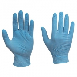 Medium - Vinyl Powdered Gloves Blue (Case Of 1000)