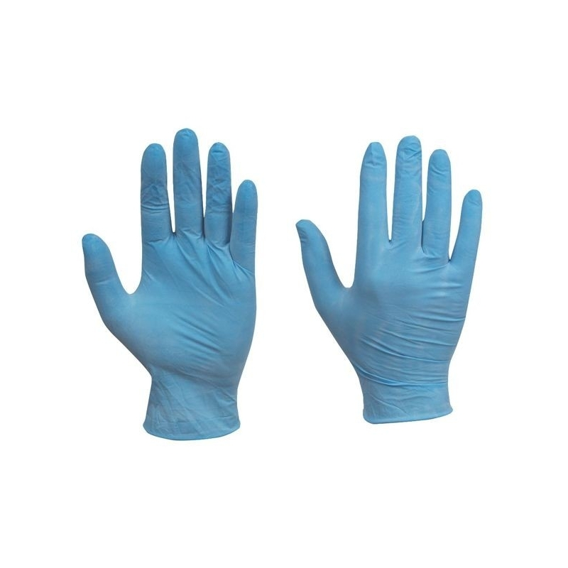 Medium - Vinyl Powdered Gloves Blue (Case Of 1000)