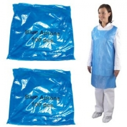 Economy Blue Aprons Flat Packed (Case Of 10 x 100 Packs)