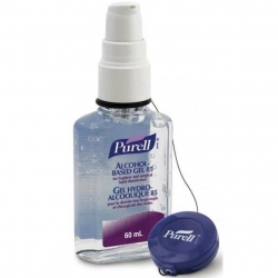 Purell Advanced Sanitizer Pump Bottle 60ml With Retractable Clip (Pack Of 24)