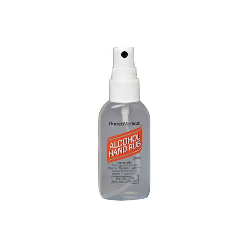 Alcohol Hand Rub 50ml With Spray Head (Case Of 50)