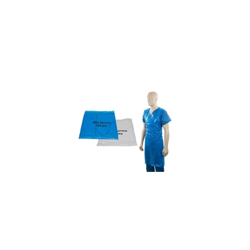 Heavy Duty Flat Packed Aprons - Blue