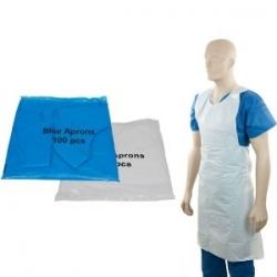 Heavy Duty Flat Packed Disposable Aprons - White