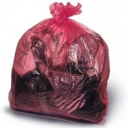 Red Soluble Strip Laundry Bags Large