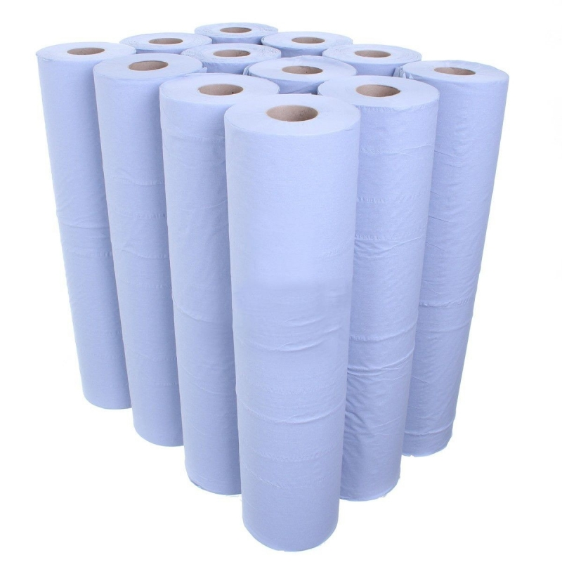 Couch Roll Recycled 2 Ply Blue